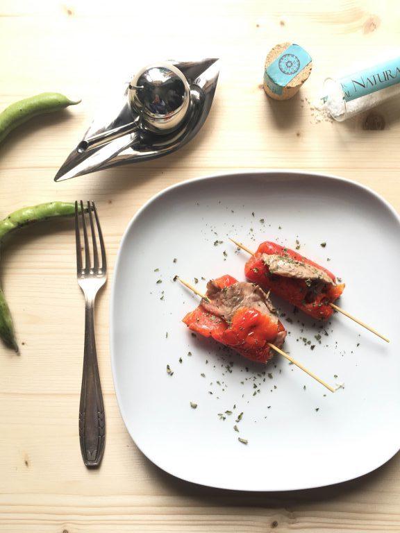 peperoniInvoltini di peperone rosso e vitello di Sandra Salerno