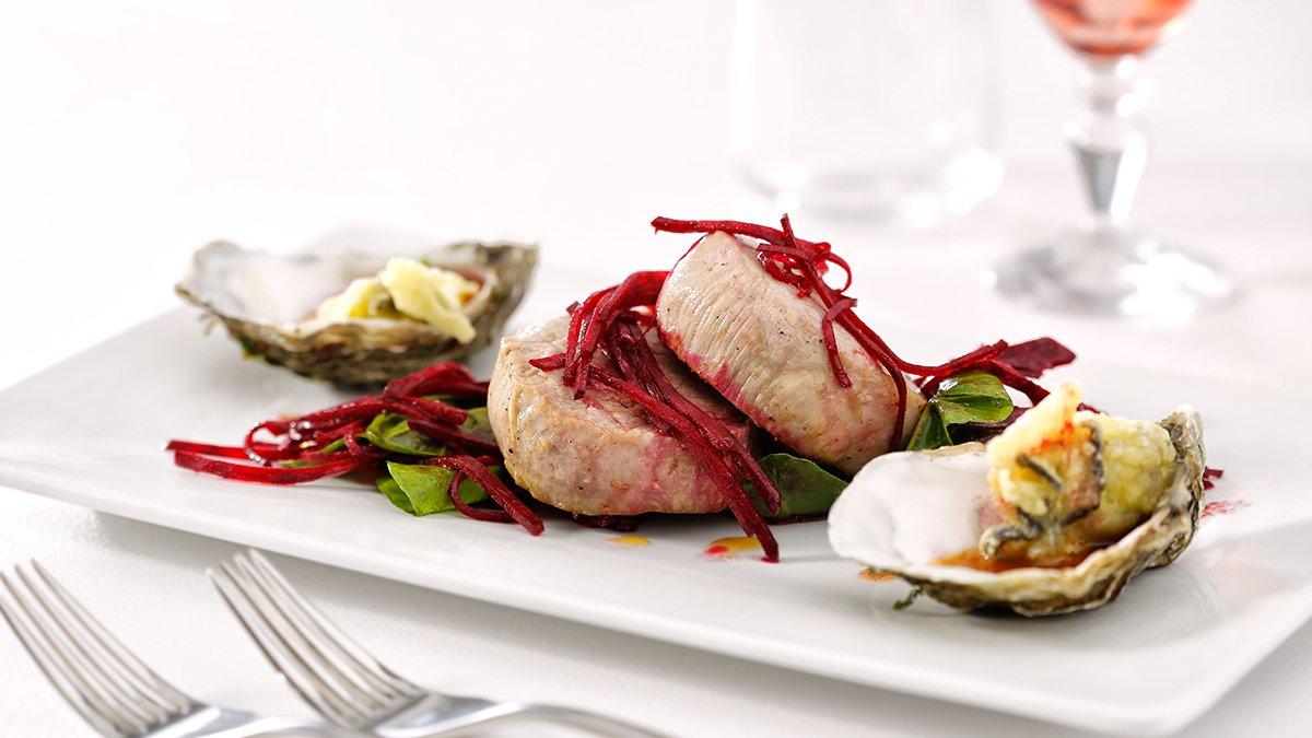 Filetto di vitello con ostriche in tempura: San Valentino secondo chef Carlo Molon