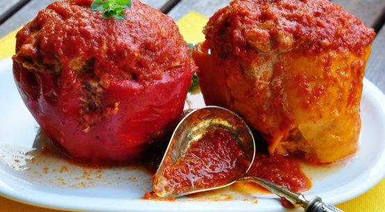 Paprike ripiene con carne di vitello di Doriana Tucci