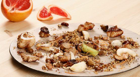 ossobuco con quinoa e pompelmo