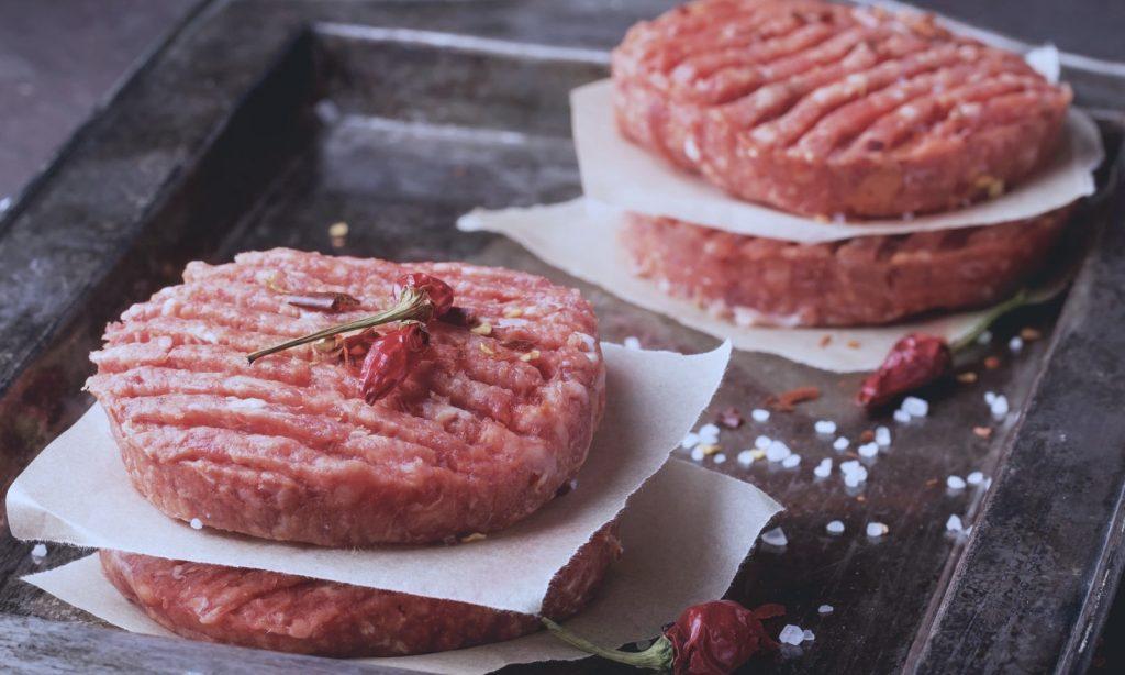 hamburger di carne di vitello carne bianca