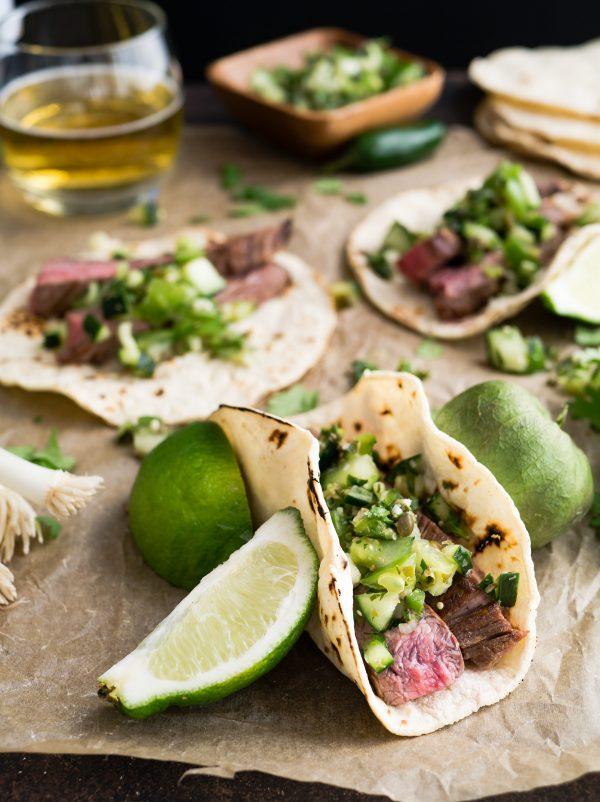 tacos di lingua di vitello