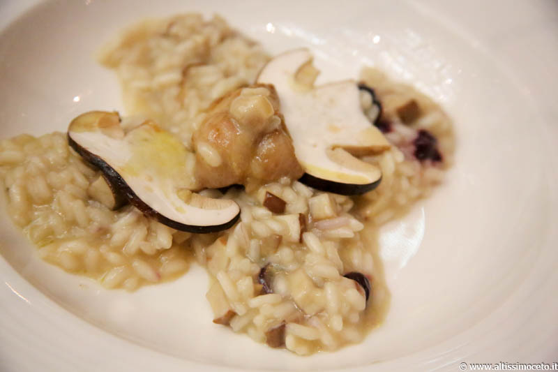 risotto porcini animelle mirtilli winter garden
