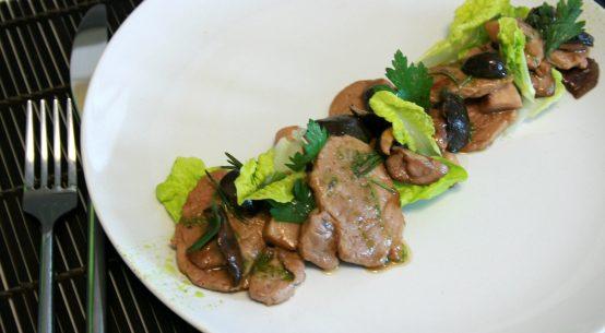 straccetti di vitello con funghi porcini