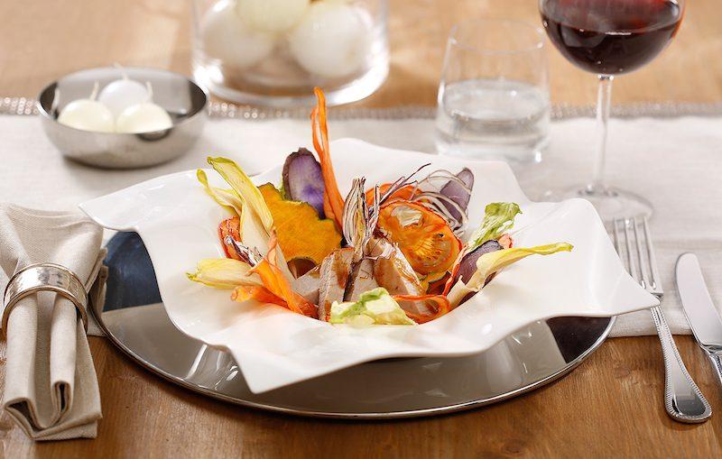 Girello di vitello arrosto con verdure disidratate di Massimo Spallino