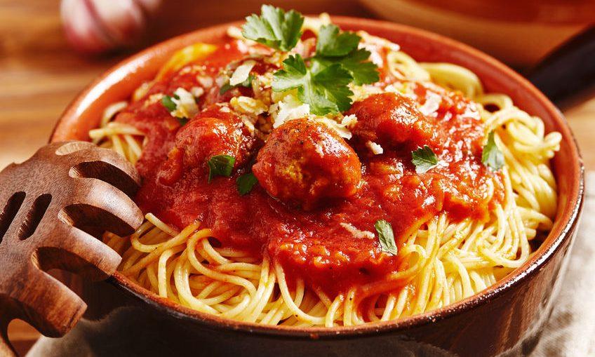 spaghetti con le polpette di vitello