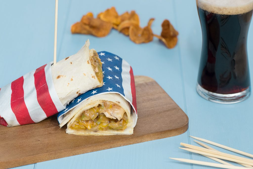 Wrap all'americana con patate dolci, dello chef Charlie Pearce