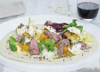 wrap di diaframma e gorgonzola