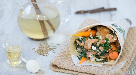 wrap carote glassate