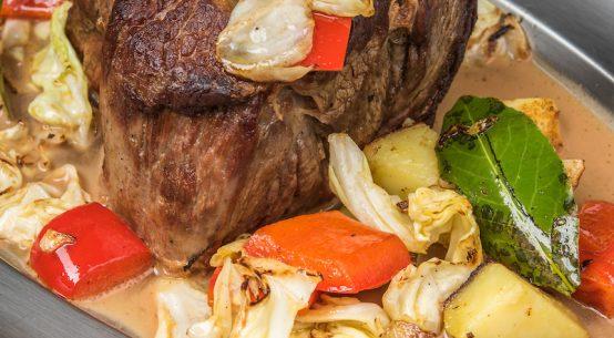 arrosto di vitello in pentola con verdure