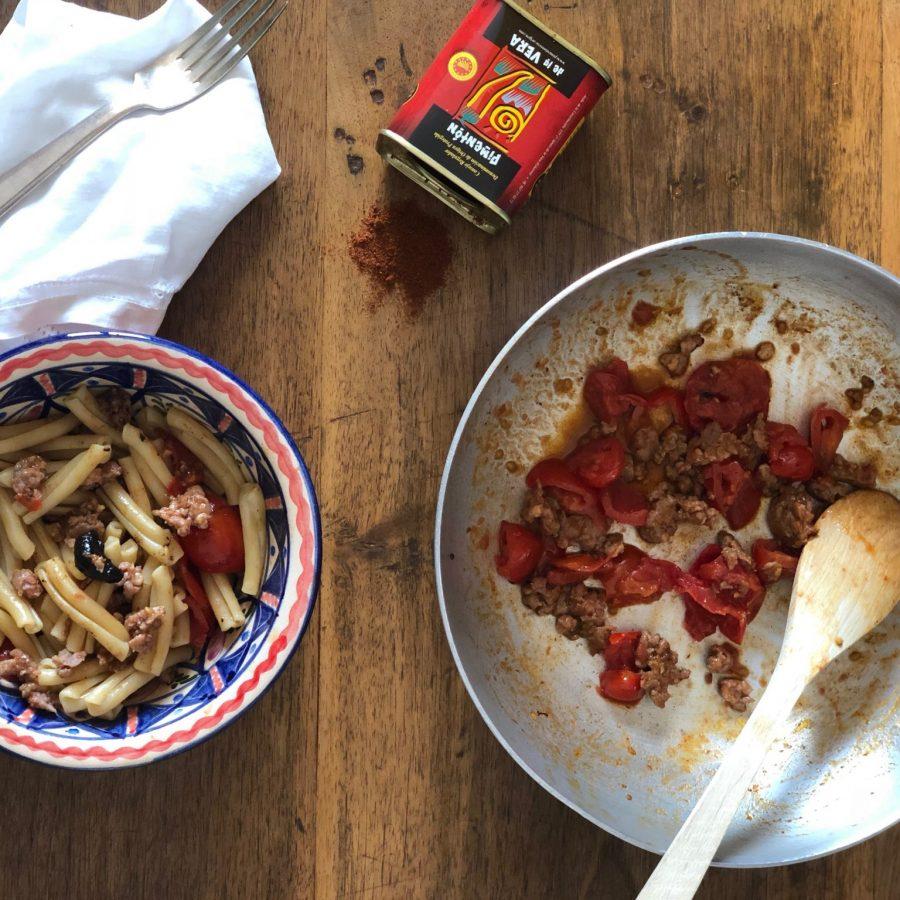 Casarecce con ragù di salsiccia di vitello alla paprika affumicata