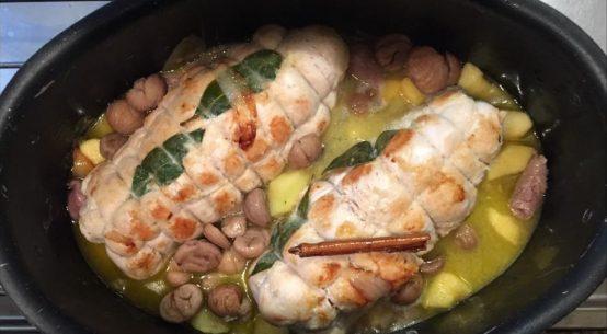 ricetta arrosto con castagne