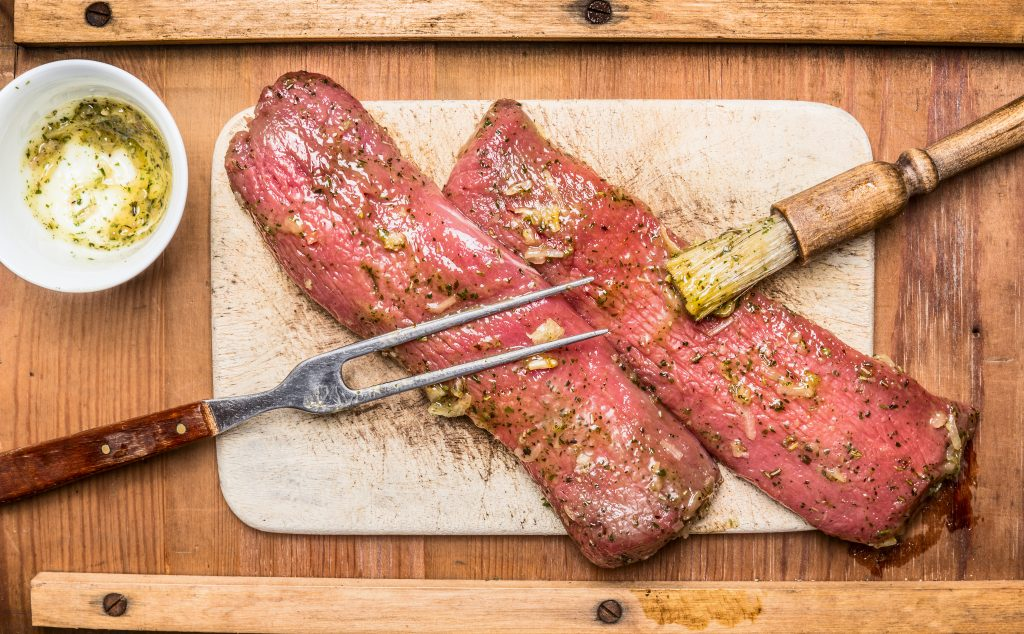 marinare la carne marinatura