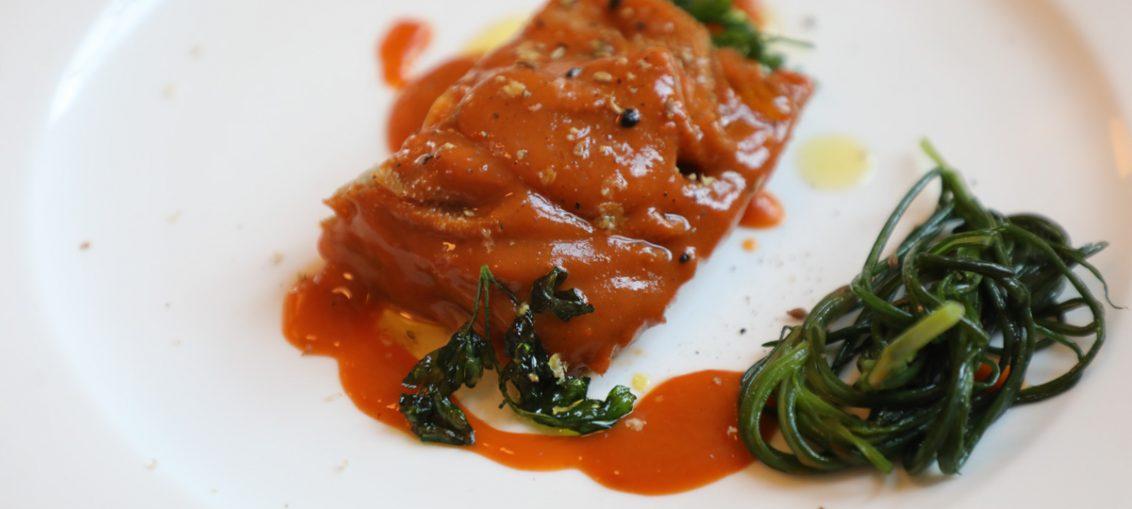 Trippa alle carote e agretti, la ricetta del ristorante Flora foto