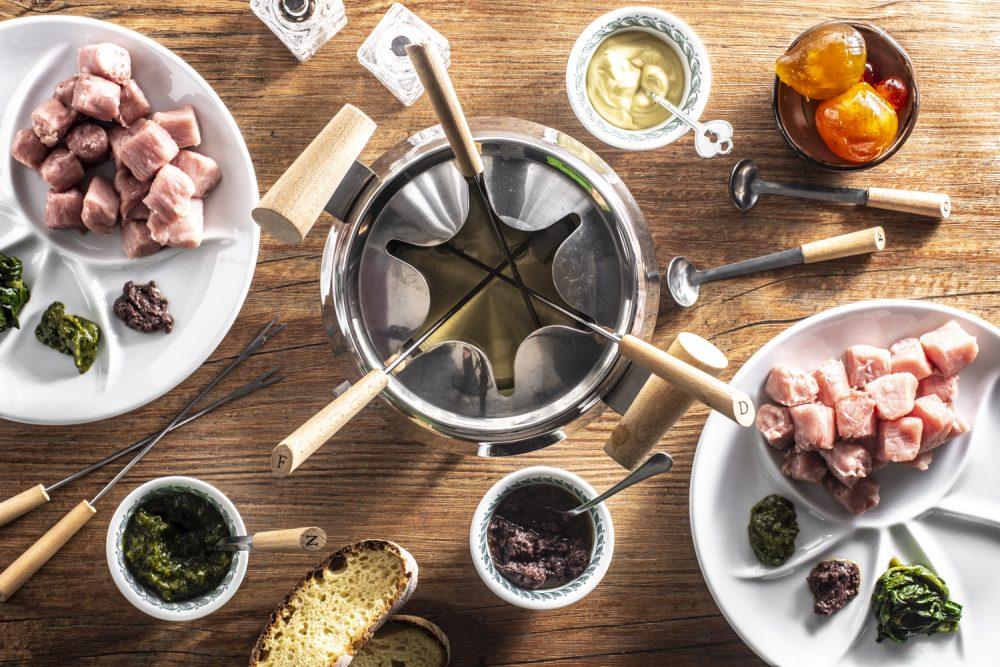 bourguignonne fonduta di carne ricetta
