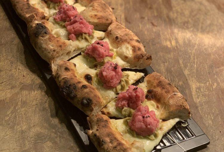 pizza bricks focaccia battuta di vitello