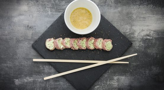 involtini di vitello involtini di vitello sushi di carne