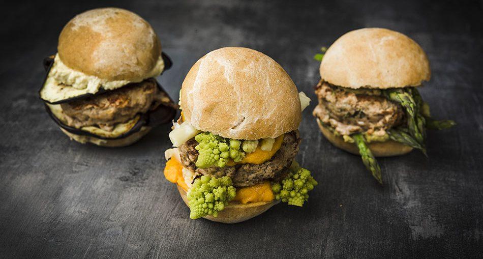 Tris di burger di vitello speziati