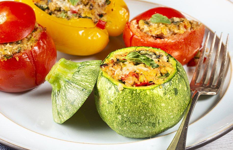 verdure ripiene al forno ricetta