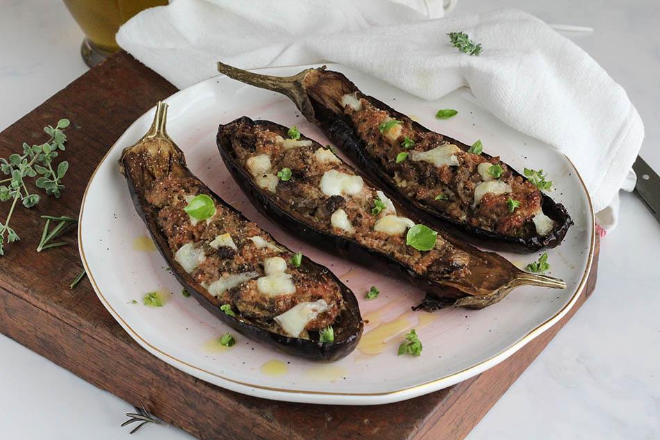 melanzane a barchetta al forno