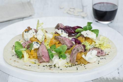 panino-autunnale-wrap-carne-zucca-gorgonzola