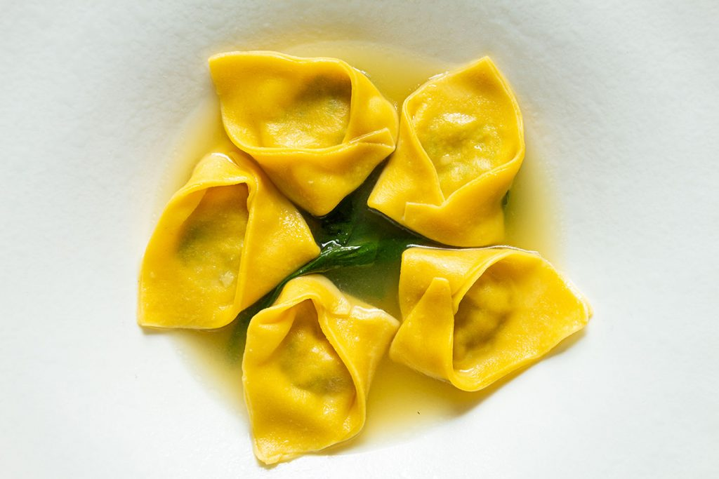tortelli in brodo di vitello chef carlo molon