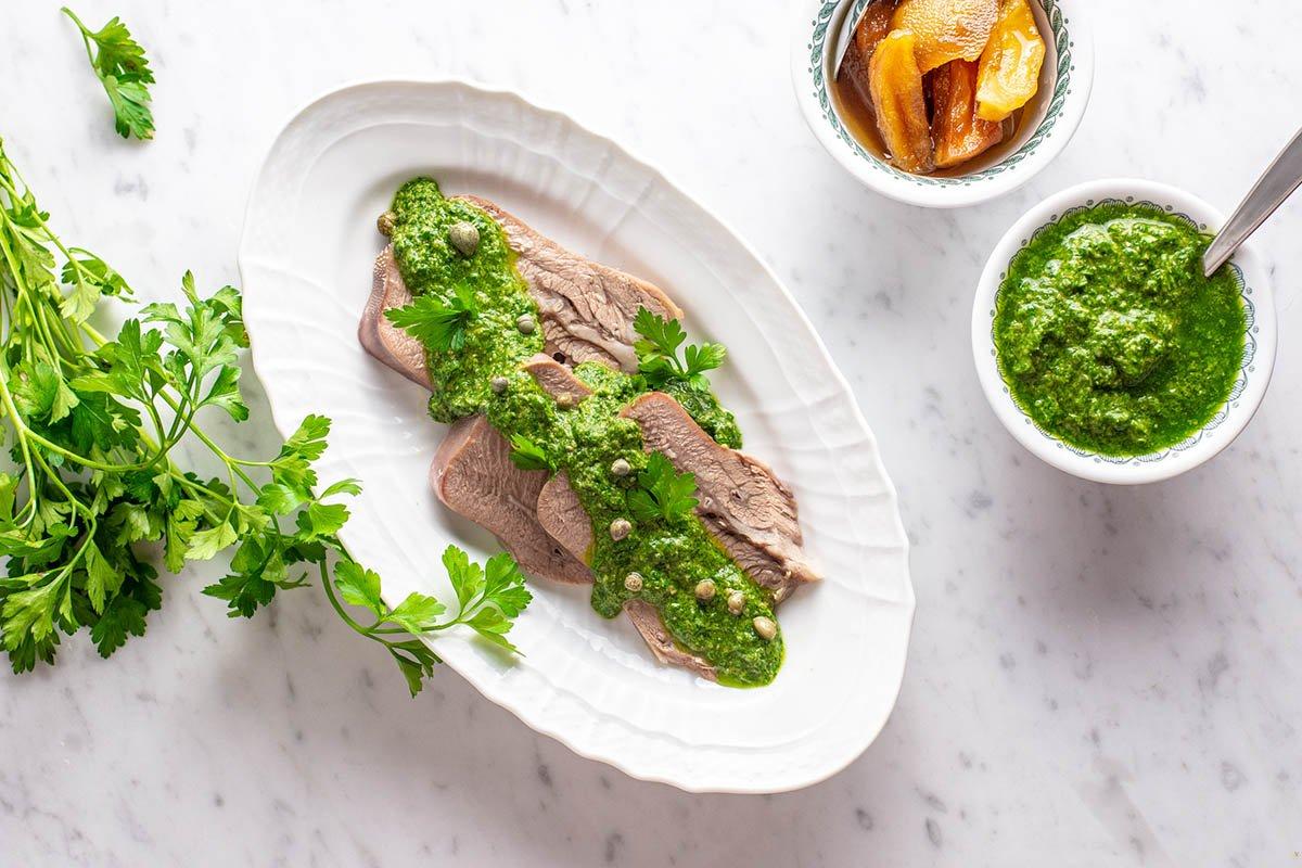 lingua di vitello con salsa verde