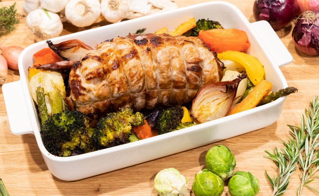 Arrosto al forno con verdure