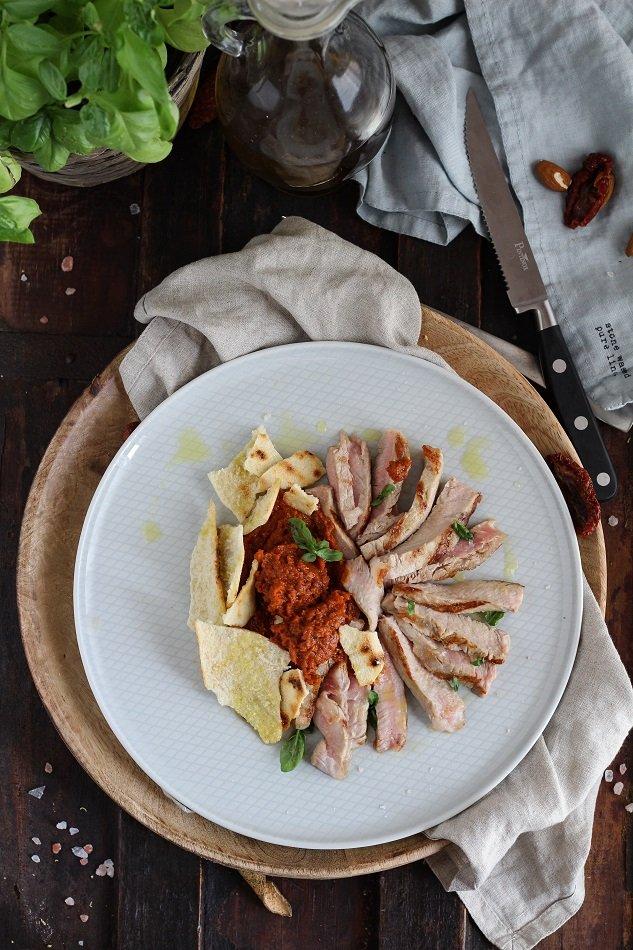 tagliata con pesto di pomodori secchi-3