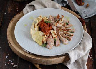 tagliata con pesto di pomodori secchi ricetta