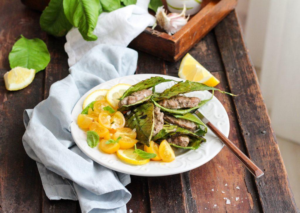 Polpette schiacciate in foglia di limone-ricetta