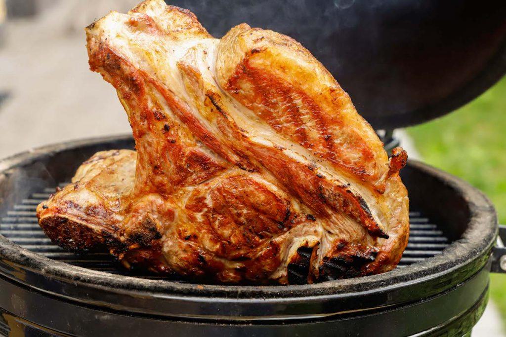 tagliata di carre di vitello bbq cottura low slow