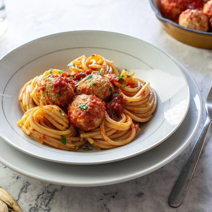 Spaghetti alla chitarra con pallotte di carne